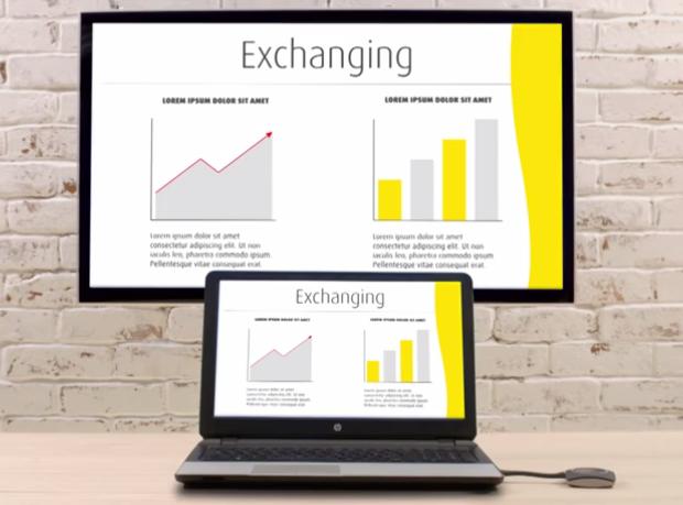 Trådlös presentation med Click Share