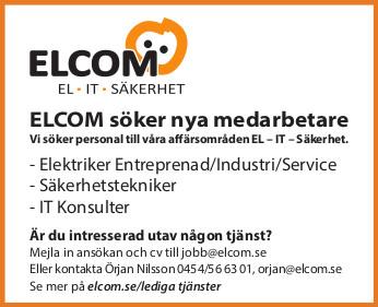 ELCOM söker nya medarbetare