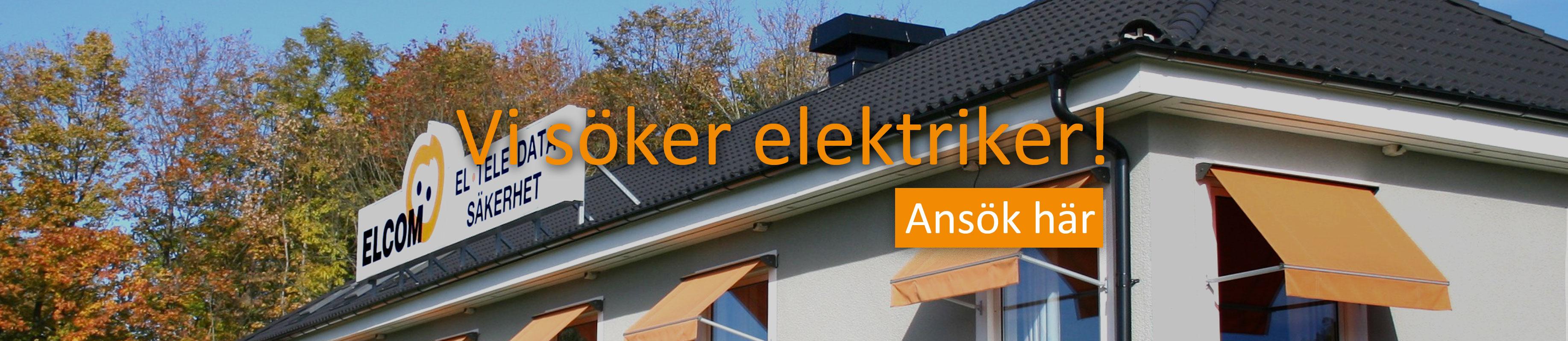 Vi söker elektriker